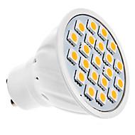 billige Spotlys med LED-1.5W GU10 LED-spotpærer MR16 20 LED SMD 5050 Varm hvit 3000lm 3000KK AC 220-240V