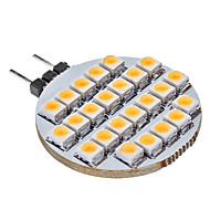 billige Spotlys med LED-SENCART 1pc 3 W 3000 lm G4 LED-lamper med G-sokkel 25 LED perler Varm hvit 12 V