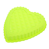 billige Bakeredskap-Hjerteformet kakeform i silikon