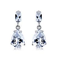 cheap Jewelry Clearance-S&V Women's Graceful Waterdrop Hand Made Zircon Crystal Stud Earrings
