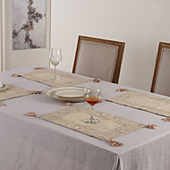 "11 ""X17"" Modern Style Pellava ja Poly Beige Placemats"
