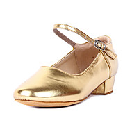 """billige Moderne sko-Barne Moderne Kunstlær Høye hæler Tykk hæl Gull Sølv Gull Fuksia 1 """"- 1 3/4"""" Kan ikke spesialtilpasses"""