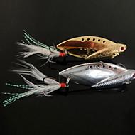 billiga Fiske-1 st Hårt bete Metallbete Vibration Fiskbete Metallbete Vibration Hårt bete Metall Sjöfiske Färskvatten Fiske