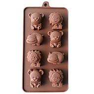silikon lev, kráva&medvěd čokoládové formy želé led plísně candy bábovka Pečení