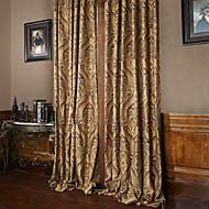 billige Gardiner ogdraperinger-gardiner gardiner Stue Luksus Polyester Mønstret