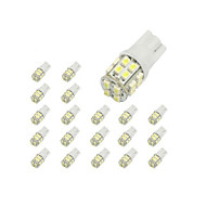 LORCOO 10pcs T10 Coche Bombillas 2 W 40 lm 20 LED Luces interiores / 6000 / 8000