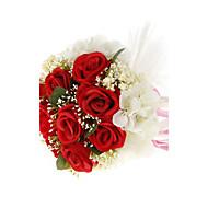 "Flori de Nuntă Rotund Trandafiri Buchete Nuntă Roșu Alb Mov 7.09""(Approx.18cm)"