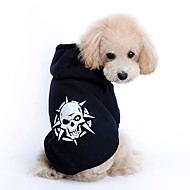 Hund Hættetrøjer Hundetøj Mode Dødningehoveder Kostume For kæledyr