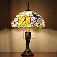 billige Lamper-Butterflies Mønster bordlampe, 2 Light, Tiffany Resin Glass Painting