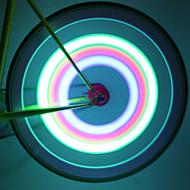 Lumini de Bicicletă lumini roți lumini intermitente capac robinet LED Ciclism Rezistent la apă Lumeni Baterie Ciclism
