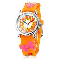 Barnens 3D Cartoon Little Girl Pattern Silicone Band Little Round Dial Quartz analog armbandsur