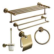 tanie Kąpiel-Zestaw akcesoriów łazienkowych Antyczny Aluminium 5szt - Kąpiel w hotelu Uchwyty na Papier Toaletowy / bar wieży / pierścień wieżowy Przytwierdzony do ściany
