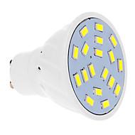 billige Spotlys med LED-GU10 LED-spotpærer 18 leds SMD 5630 Kjølig hvit 570lm 5500-6500K AC 220-240V