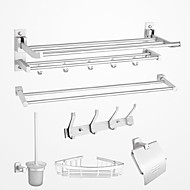 浴室用品セット / クロム アルミ /コンテンポラリー
