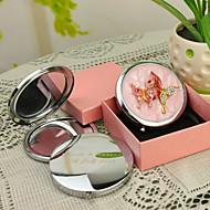 preiswerte Customized Neuheiten-Personalisierte Geschenke Butterfly Style Rosa Chrome Taschenspiegel