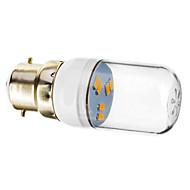 tanie Więcej Kupujesz, Więcej Oszczędzasz-1 szt. 1 W 70-90 lm B22 Żarówki punktowe LED 6 Koraliki LED SMD 5730 Ciepła biel 220-240 V