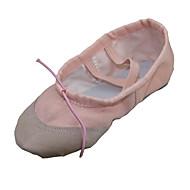 billige Ballettsko-Dame Ballettsko Tekstil Flate Flat hæl Kan ikke spesialtilpasses Dansesko Hvit / Rød / Rosa / Barne / Lær