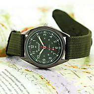 billige Militærur-Herre Quartz Armbåndsur Militærur Vandafvisende Stof Bånd Sort Grøn