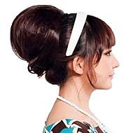 kvinne mote chignon bryllup bruden bun syntetisk parykk hår varmebestandig fiber billig cosplay fest hair extension