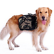 Dog Backpack Camouflage Green Outdoor Travel Hiking Camping Training Bag for Big Dogs
