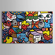cheap Prints-Stretched Canvas Print Cartoon Pop Art One Panel Horizontal Print Wall Decor Home Decoration