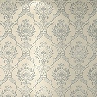 Damask Wallpaper For Home Classical Wall Covering , Velvet Flocked Material Self adhesive Wallpaper , Room Wallcovering