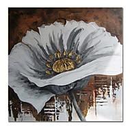 手がハングアップする準備ができましたストレッチフレームを備えたモダンな装飾花の油絵を塗装
