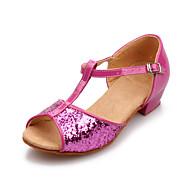 baratos Sapatilhas de Dança-Mulheres Sapatos de Dança Latina / Dança de Salão Glitter Sandália Gliter com Brilho / Presilha Salto Baixo Não Personalizável Sapatos de