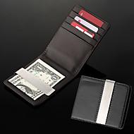 Бумажник мужской именной из кожзама со слотом для кредитных карт и металлическим зажимом для денег (надпись в пределах 8 символов)