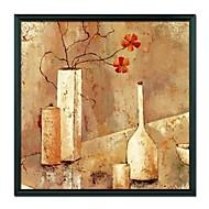 halpa -Still Life Vase Flower Kehystetty öljymaalaus