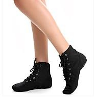 billige Jazz-sko-Dame-Dansesko-Jazz Ballett-Stoff-Flat hæl-Svart Rød Hvitt
