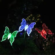 太陽の色を変える蝶の庭の杭の光高品質