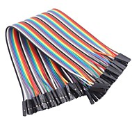 Female to Female Color Ribbon Flat Cable Jumper Dupont 40-Wire 1P-1P 2.54mm for (For Arduino)(20cm)