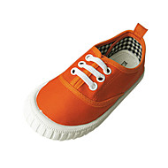 baratos Sapatos de Menina-Para Meninas Sapatos Lona Primavera / Outono Conforto Tênis Sem Salto Amarelo / Verde / Laranja