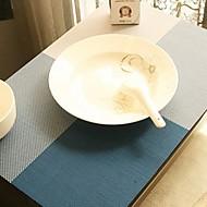 billige Kuvertbrikker-Moderne Plast Kvadrat Bordskånere Mønstret Borddekorasjoner