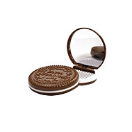 6.5 * 6.5 * 1.2センチメートルチョコレート化粧鏡