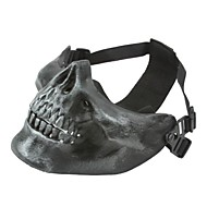 cheap Safety & Survival-SILVER GRAY HALF FACE SKELETON MASK