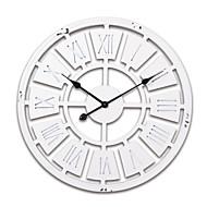"""24 """"H הלבן סגנון המודרני עץ שעון הקיר"""