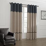 2パネル ウィンドウトリートメント 新古典主義 , 縞柄 リビングルーム リネン 材料 カーテンドレープ ホームデコレーション For 窓