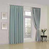 To paneler Window Treatment Moderne , Solid Stue Polyester Materiale Blackout Gardiner Hjem Dekor For Vindu