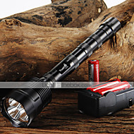 cheap -Trustfire LED Flashlights / Torch LED 3800/3000 lm 5 Mode LED with Batteries and Charger Adjustable Focus Nonslip grip
