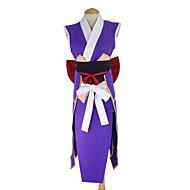 Inspireret af Eventyr Erza Scarlet Anime Cosplay Kostumer Cosplay Kostumer Kimono Patchwork Forklæde Bælte Sløjfe Kimono Frakke Til