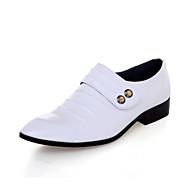 Bărbați Pantofi Piele Iarnă Primăvară Vară Toamnă Confortabili Mocasini & Balerini Pentru Nuntă Party & Seară Negru Alb Maro