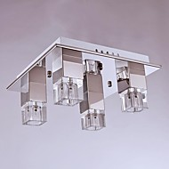 cheap Ceiling Lights-Flush Mount ,  Modern/Contemporary Chrome Feature for Crystal Metal Bedroom Dining Room Study Room/Office Kids Room