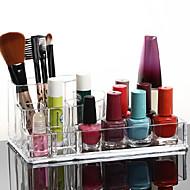 אחסון איפור Cosmetic Box / אחסון איפור פלסטיק / אקרילי אחיד 17x10x6.5 Bisque