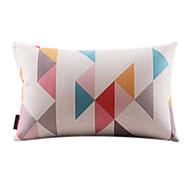 1 個 コットン/リネン 枕カバー,幾何学模様 コンテンポラリー