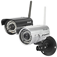 câmera ip sricam® impermeável noite dia sensor CMOS de cor 1/4 de polegada wireless
