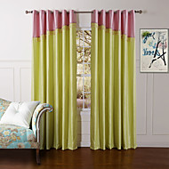 Rod Pocket Grommet Top Tab Top Double Pleat Two Panels Curtain Modern Solid Bedroom Polyester Material Curtains Drapes Home Decoration