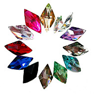 cheap Nail Art-24PCS Mixs Color Glitter Rhombus Rhinestone Nail Art Decorations