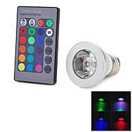 billige Spotlys med LED-1pc 3 W 100-200 lm E26 / E27 LED-spotpærer 1 LED perler Høyeffekts-LED Fjernstyrt / Dekorativ / Fargegradering RGB 85-265 V / RoHs